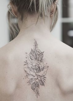 Seventh Day – Auckland – foot tattoos for women flowers Floral Back Tattoos, Small Back Tattoos, Girl Back Tattoos, Upper Back Tattoos, Tattoos For Women Flowers, Foot Tattoos For Women, Back Tattoo Women, Sleeve Tattoos For Women, Feather Tattoos