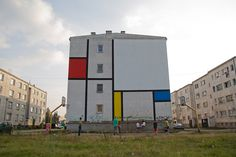 Mondrian mural blocks / Łukasiak Alice and Gregory Drozd 2