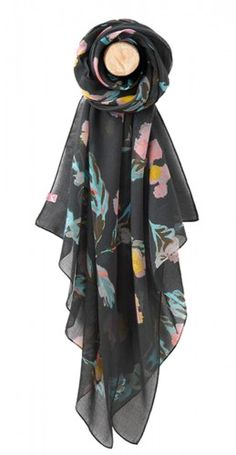 41b8d3883476 The much loved Joules Wensley women s scarf is back with a bold new print.  The hand drawn design features a an abstract floral print with pink