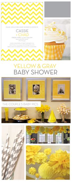 Cute idea using the parent's baby pictures