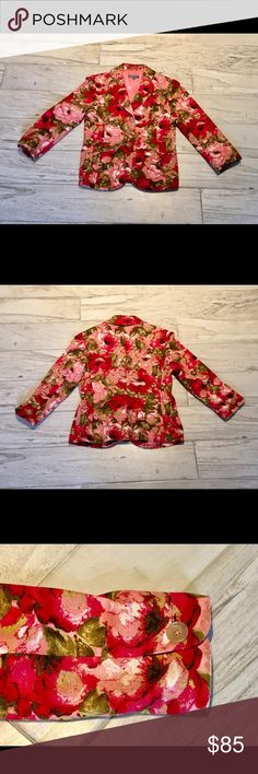 Ann Taylor Beautiful Spring Jacket!! NWOT! Gorgeous Colors!! Excellent Craftsmanship!! Perfect with Jeans, Pants, Skirts, or Dresses!! Ann Taylor Jackets & Coats Blazers
