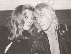 Bebe Buell and Iggy Pop