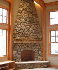 Fireplace Rock Ideas river rock fireplace | home ideas | pinterest | river rock
