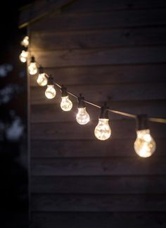 The Festoon Lights look beautiful lining your garden or hanging in the trees for outdoor dining and parties
