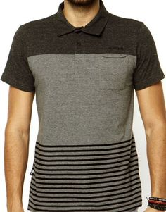 Camisa Polo Rip Curl Mixed Cinza