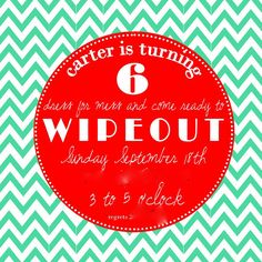 wipeout themed birthday party // love it