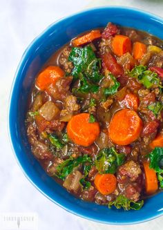 Paleo Bison Chili With Kale