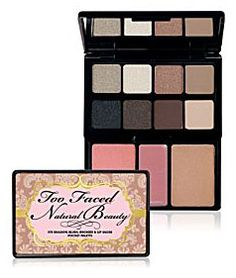 Go natural with Too Faced's glamour to go natural beauty palette.