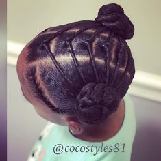 french braid hairstyles For Black Women Lil Girl Hairstyles, Black Girl Braided Hairstyles, French Braid Hairstyles, Girls Natural Hairstyles, Natural Hairstyles For Kids, Natural Hair Styles, Long Hair Styles, Curly Hairstyles, Kids Natural Hair