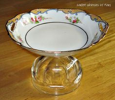 Cupcake Stand / Jewelry Stand / Soap Dish - As Featured In Flea Market Gardens…