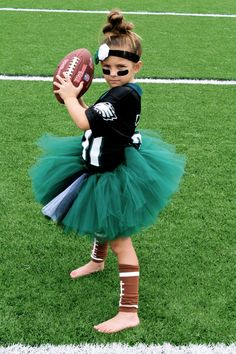 Football Tutu - Customize For Your Team. $39.95, via Etsy.