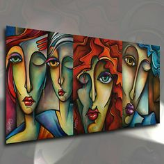 """Receive excellent pointers on """"modern abstract art geometric"""". They are actually offered for you on our site. Abstract Face Art, Abstract Canvas, Canvas Art, Abstract Portrait, Tableau Pop Art, Modern Art Paintings, Portrait Paintings, Acrylic Paintings, Oil Paintings"""