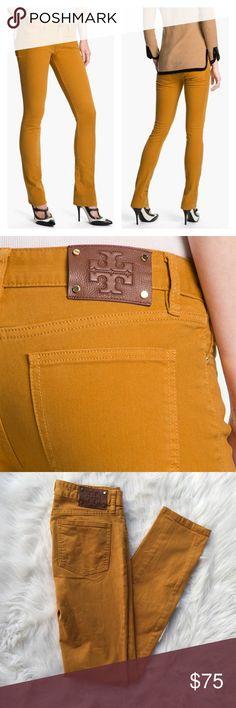 Tory Burch Ivy super skinny mustard yellow pants Pre loved Tory Burch Ivy super skinny mustard yellow pants Tory Burch Jeans Skinny