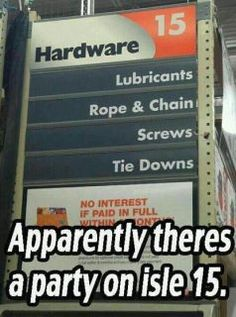 Party in isle 15 at Home Depot!