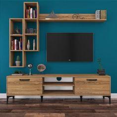 Ideas Ikea Storage Living Room Tv Stands For 2019 Tv Unit Decor, Tv Wall Decor, Wall Tv, Tv Wall Units, Bookcase Wall, Tv Unit Furniture, Modern Furniture, Rustic Furniture, Bedroom Furniture