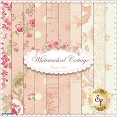 3 Sisters for Moda: Whitewashed Cottage in Rose | Shabby Chic quilting fabric