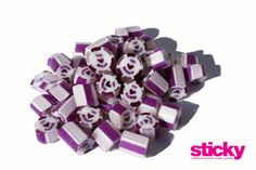 Two tone custom made candy in a beautiful violet