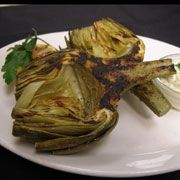 Grilled Artichokes with Pesto Aioli from Paul Martin's American Bistro - I'm obsessed with this aioli and put it on everything!