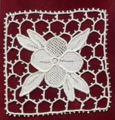 needle lace with bar ground This website is a goldmine of needle lace by hand (historically called punto in aria).  It provides free patterns and, how to step by step instructions