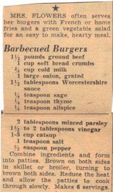 Vintage recipe - Stove top burgers