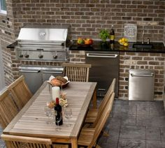 Small Dining Room and Wood Furniture in Small Modern Outdoor Kitchen Designs Ideas - Home Design Ideas