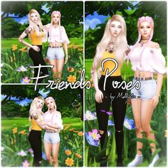 Sims 4 CC's - The Best: Friends Poses by Melly Sims