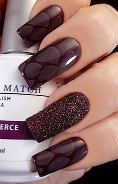 Nails burgundy design nailart shape Ideas - New Pin Nail Art Designs, Nail Polish Designs, Nail Polish Colors, Gelish Nails, Nail Manicure, Wine Nails, Nailart, Burgundy Nails, Oxblood Nails