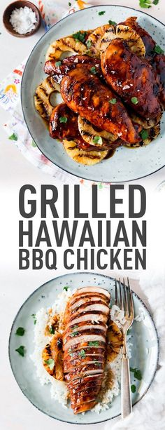 Grilled Hawaiian BBBQ Chicken with Homemade BBQ Sauce Why buy bbq sauce for this Hawaiian bbq chicken when you can easily make your own with a few ingredients you probabl. Best Chicken Recipes, Turkey Recipes, Dinner Recipes, Bbq Dinner Ideas, Bbq Ideas, Dinner Entrees, Breakfast Recipes, Dessert Recipes, Grilling Recipes
