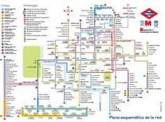 Plano del metro de Madrid  Madrid metro map