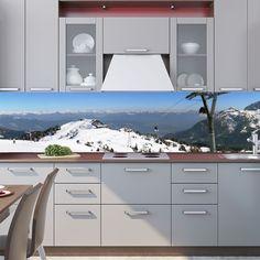 Kitchen Backsplash Images, Backsplash Wallpaper, Kitchen Aprons, Adhesive Vinyl, Kitchen Decor, Cooking Aprons