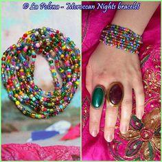 MOROCCAN NIGHTS bracelet Colorful 8 x stretch Hippy Gypsy