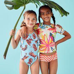 321b3b9d6f Printed Short Sleeve Rash Guard | Tea Collection Striped Tankini, Kids  Swimwear, Rash Guard
