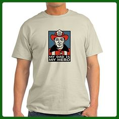 30203c72a CafePress - My Dad Is My Hero (Fireman) Ash Grey T-Shirt -