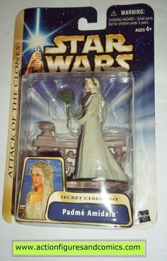 star wars action figures PADME AMIDALA secret ceremony wedding 2003 Attack of the clones saga movie hasbro toys moc mip mib