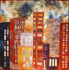 Art Quilts by Mietzi - Gallery of Artwork - Quilts Inspired by Buildings. Katharina Litchman