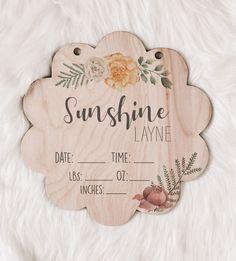 Nursery Name, Nursery Signs, Baby Hangers, Hospital Door Hangers, Newborn Baby Photos, Baby Name Signs, Floral Nursery, Baby Keepsake, New Baby Gifts