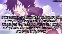 I want to know more about Zeref and Natsu's past. I imagine that they were the most adorable brothers ever and Zeref was such a kind, caring, and protective older brother who took very good care of his baby brother. – submitted by @akatsukigadaisuki