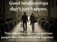 Good Relationships.
