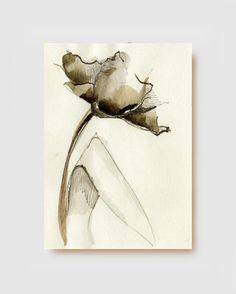 FLOWERS  Original art Ink drawingInk dark ink by SimpleArtStudio, €20.00