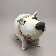 Shake That Booty, Bella  - Dog Sculpture in Stoneware. €75.00, via Etsy.