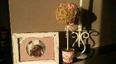alberello iuta e rose rosa con cornice anticata in rosa by M.Beatrice Ardenti (Il cuore crea)