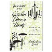 Garden Dinner Chandelier Invitations, 20679