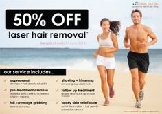 50% OFF Laser Hair Removal! Be Quick. Offer ends 31 June 14. :)