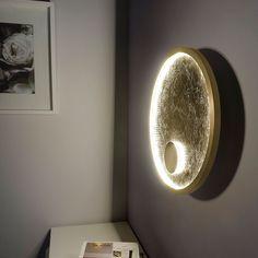 Luna LED Wandleuchte / 14W + 3W / 3000K / Goldfarben 43961