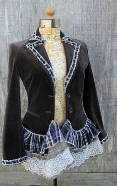 Cute jacket refashion. Gives me an idea for a jacket that was given to me.