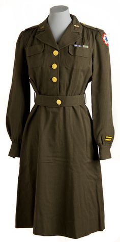 US Army Nurse Corps officer's uniform dress, 1944-46.