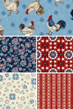 American Folk by Jennifer Brinley for Studioe Fabrics | Click through to view the entire collection. Ships March 2016.