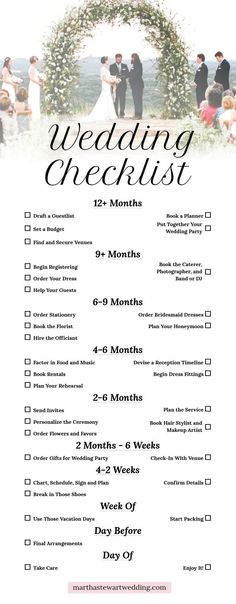 Wedding planning timeline - Ready, set, go! Our nononsense guide will help you learn how to plan your wedding like a pro WeddingChecklist WeddingPlanning WeddingPlan WeddingPlanningTips Martha Stewart Weddings Your Ult Cute Wedding Ideas, Wedding Tips, Wedding Events, Dream Wedding, Wedding Day, Wedding Hacks, Budget Wedding, Diy For Wedding, Unique Wedding Themes