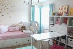 Ikea Girls Room Best Of Girls Bedroom In Benjamin Moore Pink Bliss with Chandelier Ikea Hemnes Bed and Kallax Bookshelf - LBFA Bedroom Ideas Lovely Ikea Girls Room   LBFA Bedroom Ideas