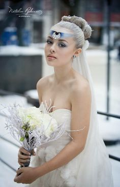 SNOW PRINCESS Photo:Natalia Pipkina Model:Mina Hair/Makeup:Shlomi Ruimi Princess Photo, Hair Makeup, Snow, Wedding Dresses, Hair Styles, Model, Color, Fashion, Bride Dresses